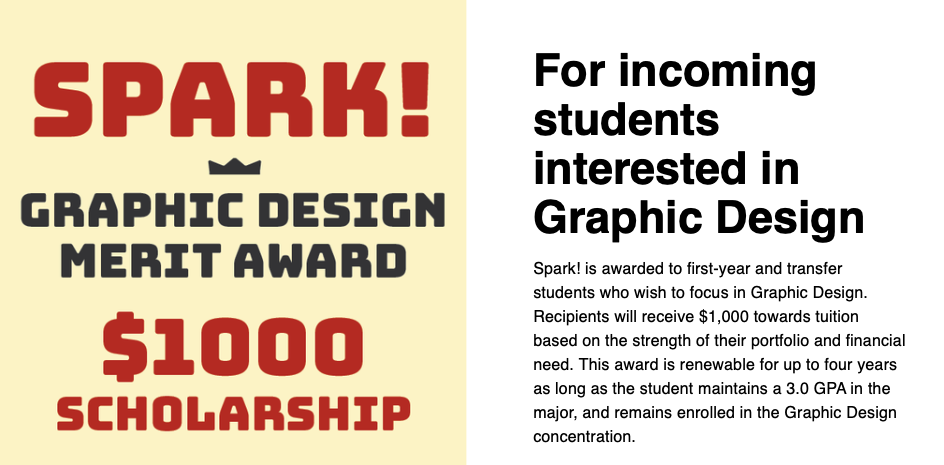 Spark Scholarship for Incoming Graphic Design Students
