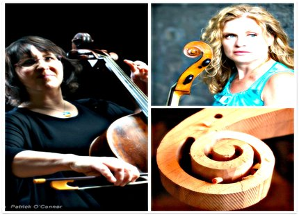 photo two cellists Sarah Friberg and Colleen McGary-Smith formed Tutti Bassi