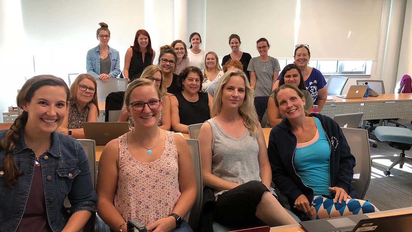 Master of Science in Nursing students sitting in a classroom