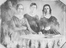 Three Early Graduates of Lexington (L-R) Sarah Wight 1842, Eliza Rogers 1841, Mary Swift 1840 All three taught at the Perkins School for the Blind