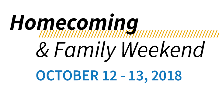 Homecoming & Family Weekend, October 12 to 13, 2018