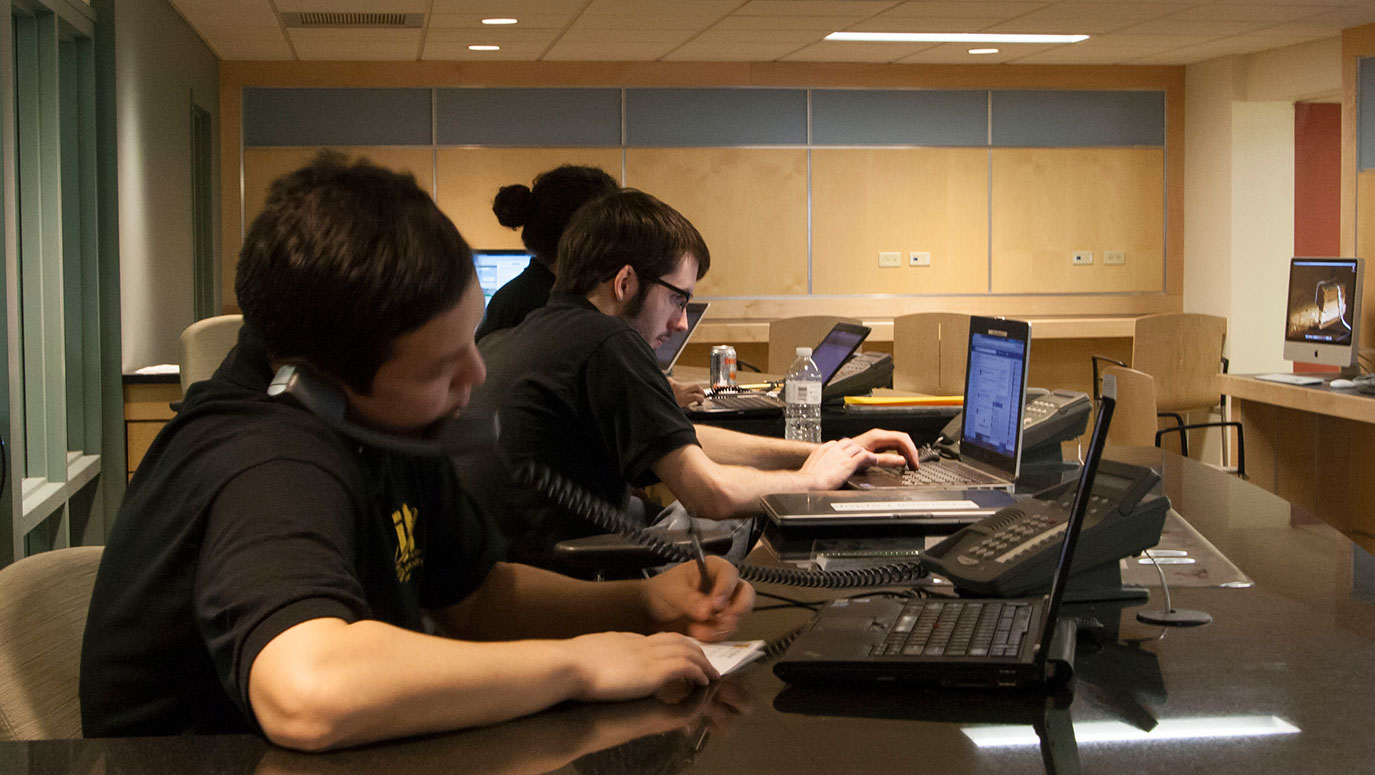 Student workers at Technology Resource Center