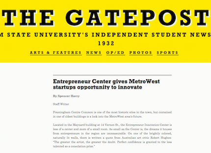 Gatepost Article Screenshot