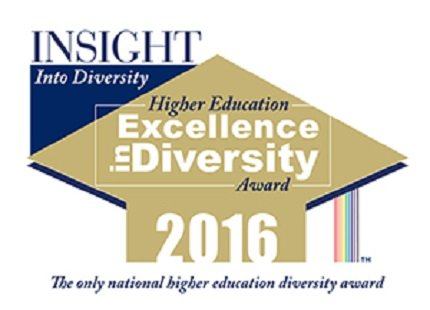 Insight Into Diversity Higher Education Excellence in Diversity Award 2016. The only national higher education diversity award.