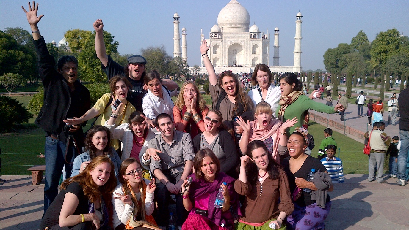 Students at the Taj Mahal